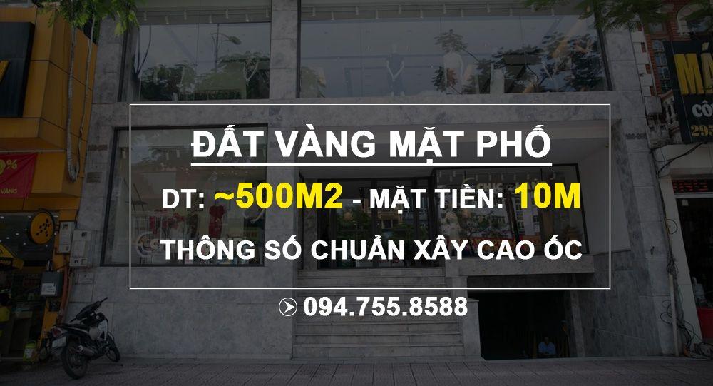 Bán đất mặt phố Bạch Mai, quận Hai Bà Trưng: DT 500m2, mặt tiền 10m rất đẹp để xây tòa nhà